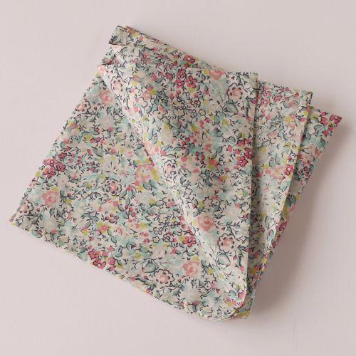 Floral pocket square - Liberty tana lawn Emma and Georgina turquoise