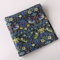 Strawberry Thief blue pocket square