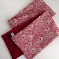 Red Velveteen and Liberty Hera Scarf