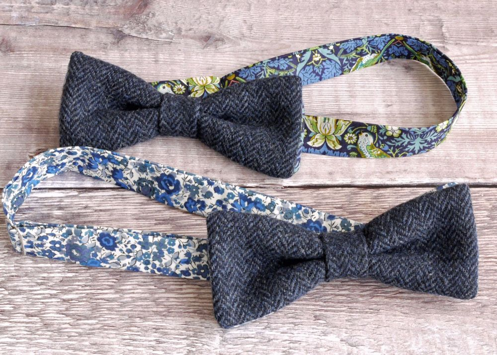 Tweed and Liberty print bow ties