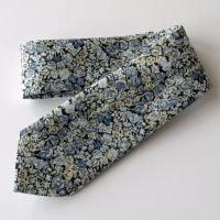 Men's Handmade Liberty Tana Lawn Tie - Chive blue