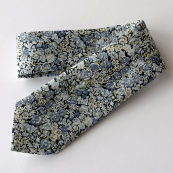 Men's Handmade Liberty Tana Lawn Tie - Chive blue