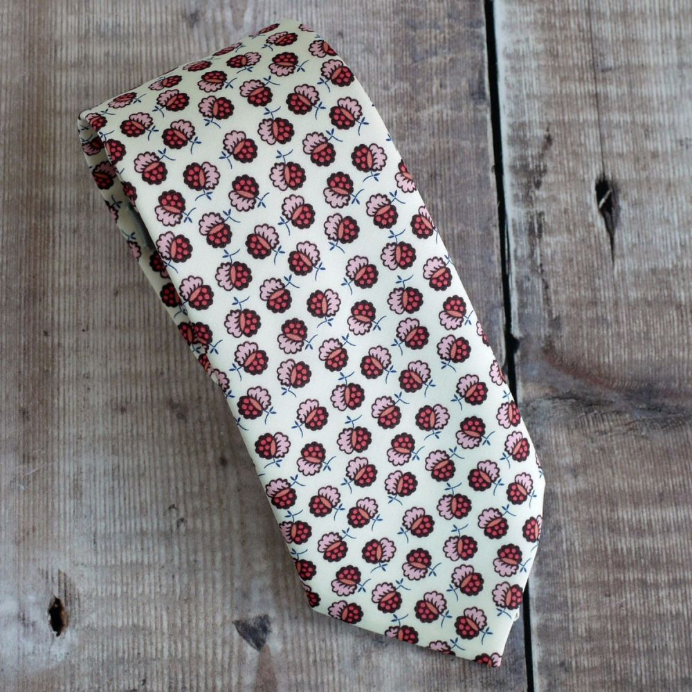 Floral Liberty print tie - Lion Blossom pink