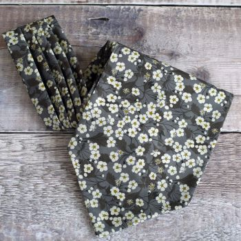 Floral Liberty print cravat - Mitsi brown