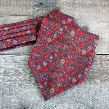 Floral Liberty print cravat - Emma and Georgina berry