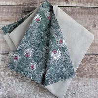 Liberty Hera and Grey Velveteen Scarf