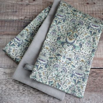Silver grey velveteen and Liberty Lodden scarf