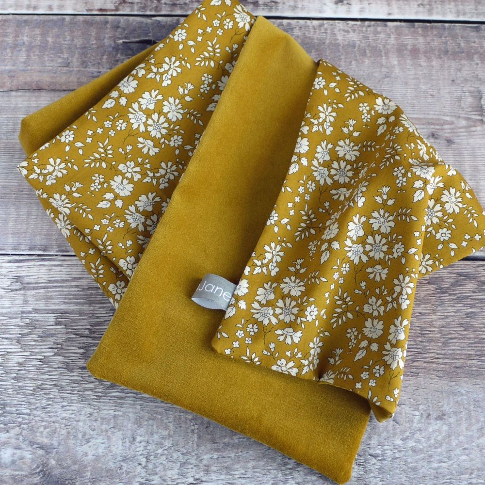 Liberty Capel mustard and gold velveteen scarf