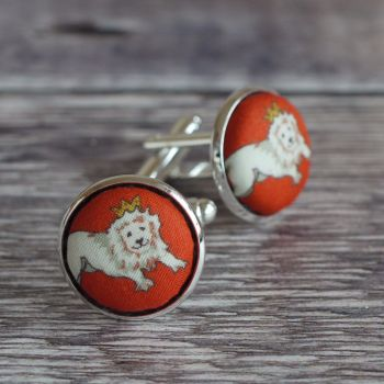Liberty tana lawn King Lion design cufflinks