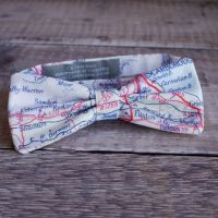 Yorkshire map print bow tie - East coast Scarborough