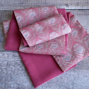 Liberty Caesar and pink cupro cotton Scarf