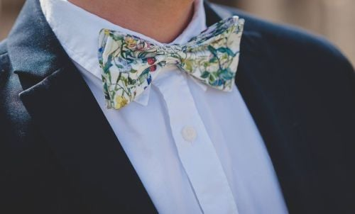 Wild Flowers Liberty print bow tie
