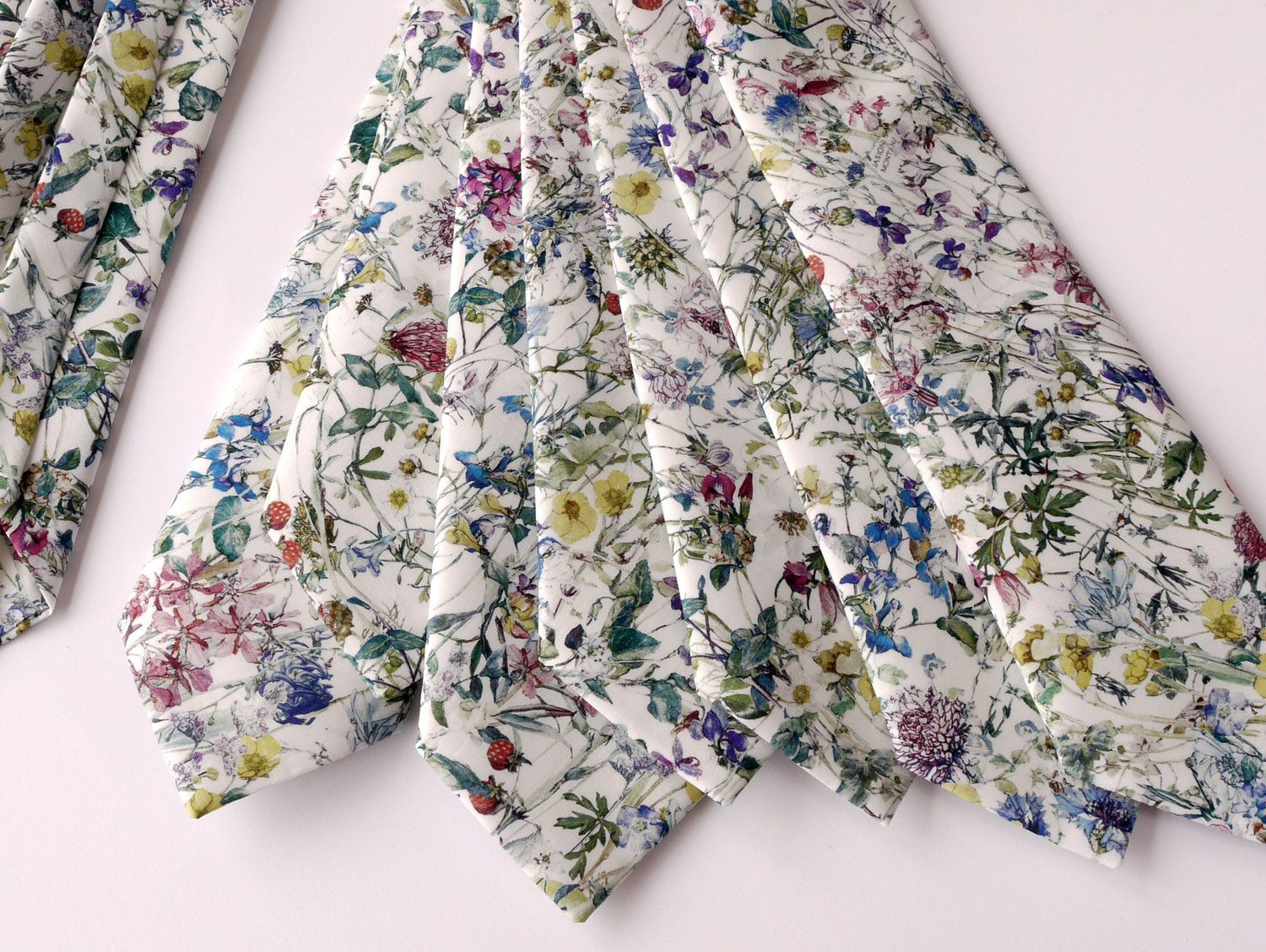Liberty print Wild Flowers wedding ties