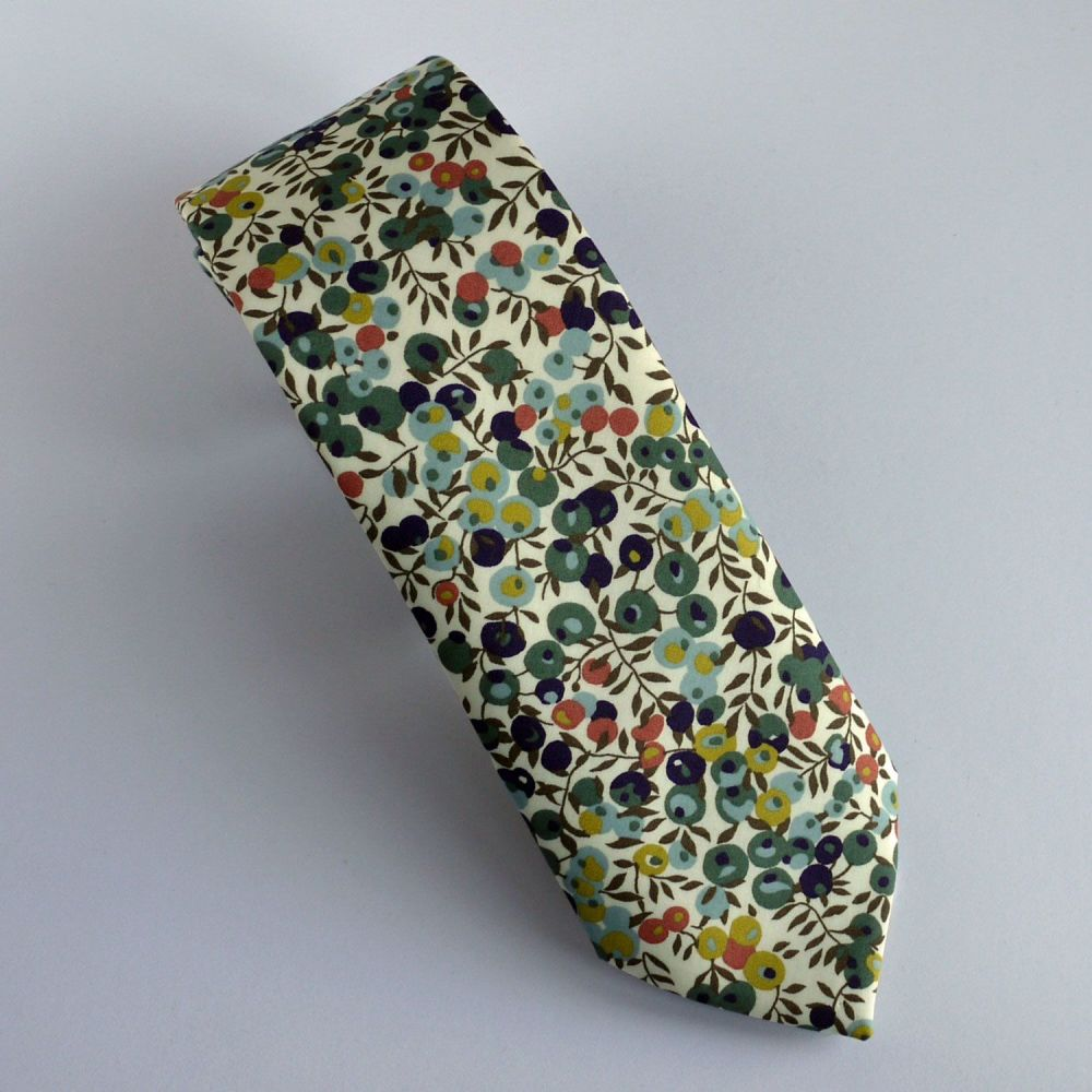 Custom order for 5 hand-stitched Liberty print ties - Wiltshire Berry