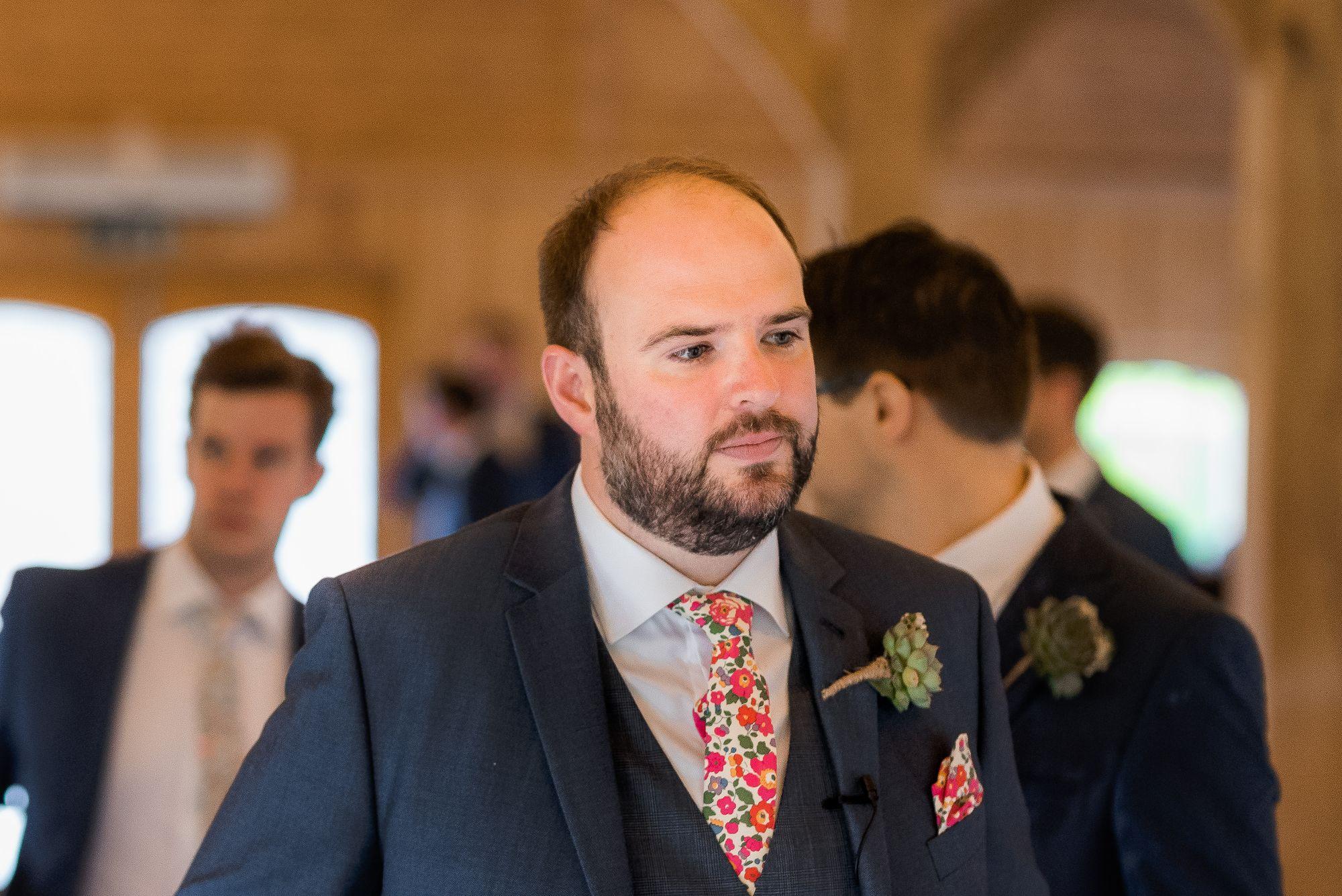 Bespoke Liberty print wedding ties