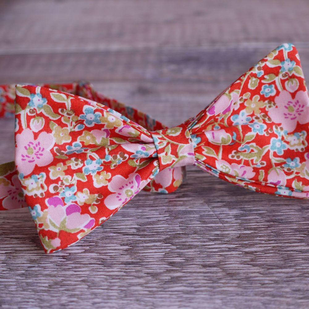 Liberty print bow tie - John orange