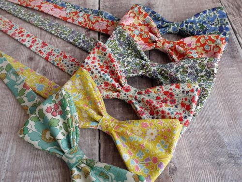 Liberty-print-bow-ties