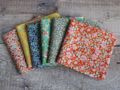 floral Liberty print pocket squares