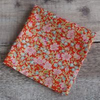 Floral Liberty print pocket square - John orange