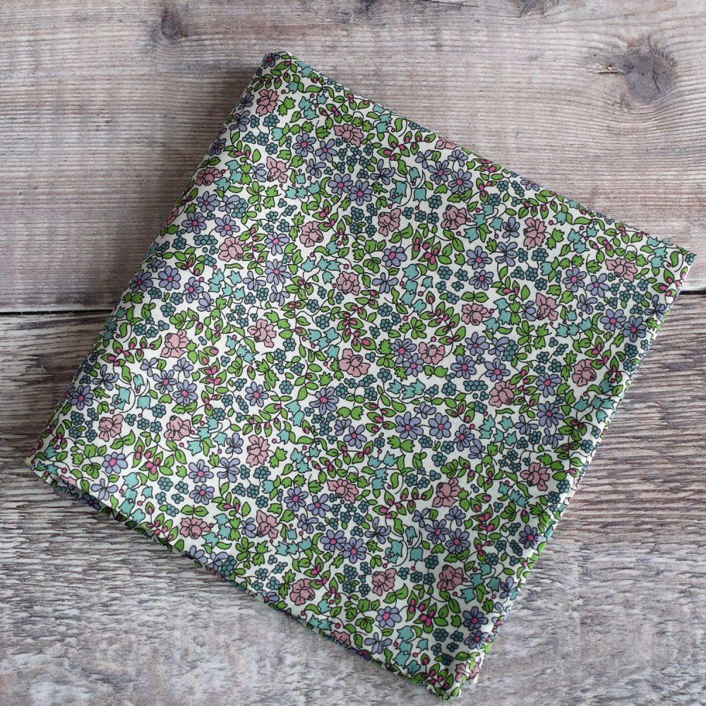 Mens pocket square - Liberty tana lawn Emilia's Flowers green