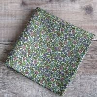 Mens pocket square - Liberty tana lawn Emilia's Flowers green