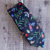 Floral Liberty print tie - Temptation Meadow blue tie
