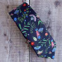 Floral Liberty print tie - Temptation Meadow blue tie