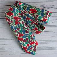 Floral Liberty print tie - Poppy and Daisy