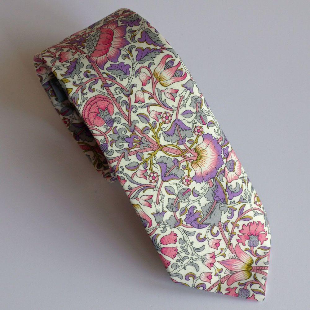 Liberty tana lawn tie - Lodden purple