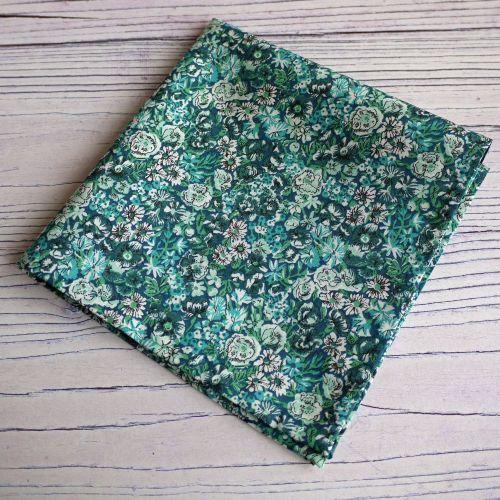 Floral Liberty print pocket square - Chive green pocket square
