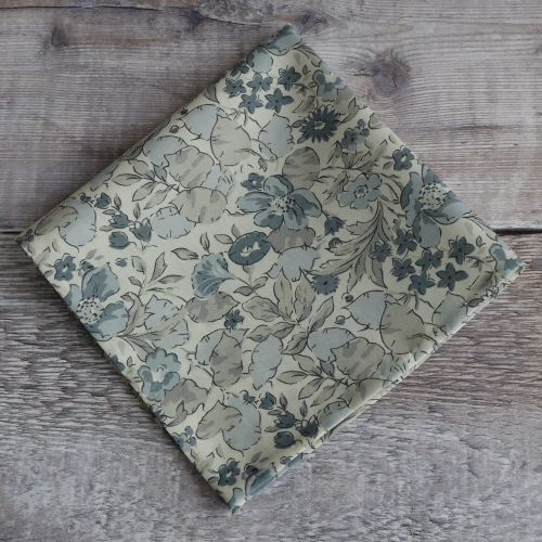 Floral Liberty print pocket square - Poppy and Honesty
