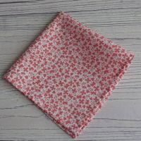 Red hearts and butterflies pocket square - Liberty tana lawn Gracey