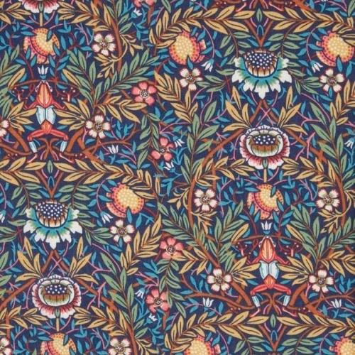 Blue floral pocket square - vintage Liberty tana lawn
