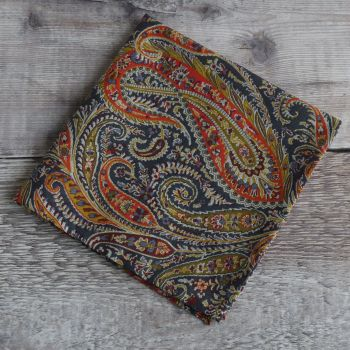 Mens pocket square - Liberty tana lawn Felix & Isabelle blue and orange