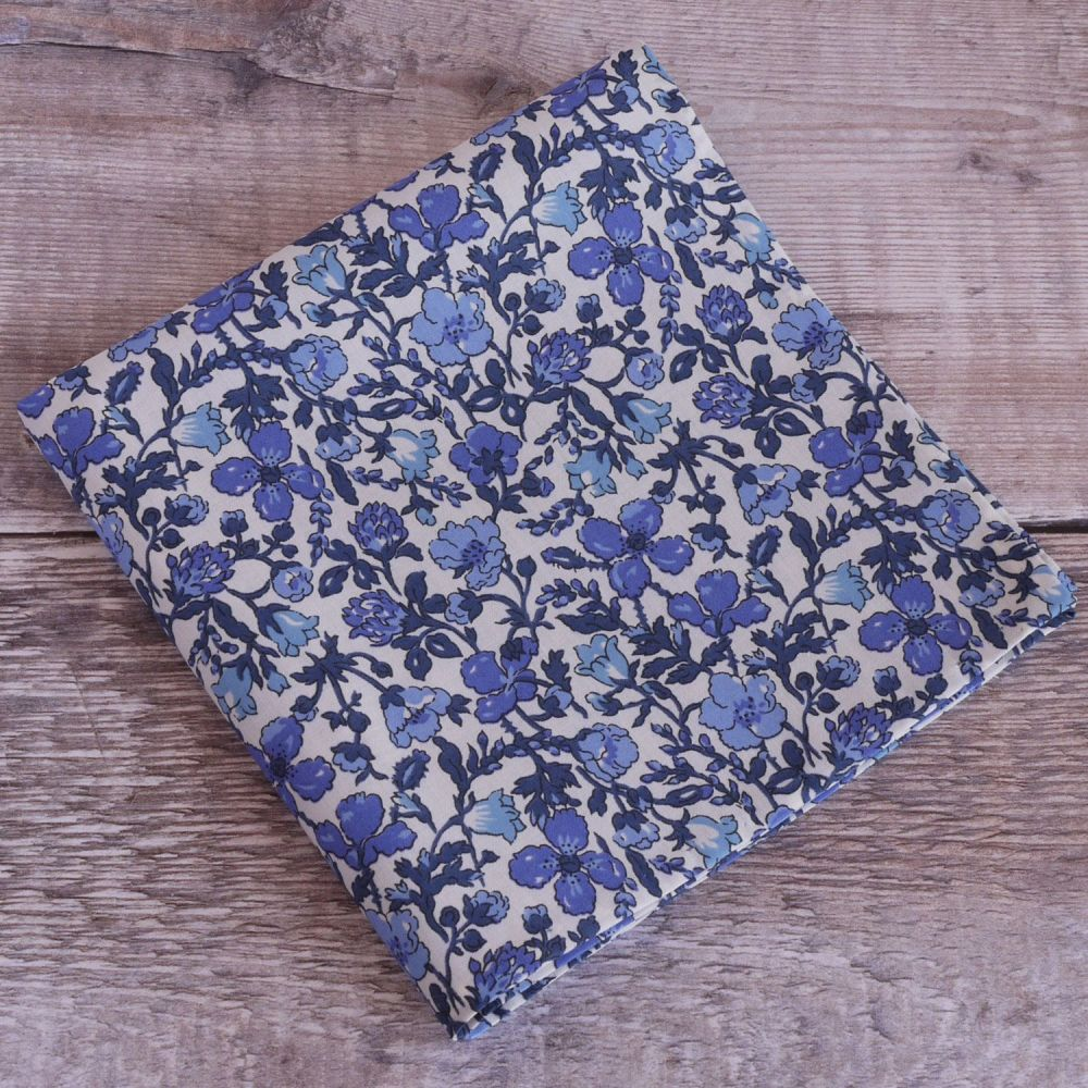 Floral pocket square - Liberty tana lawn Meadow blue