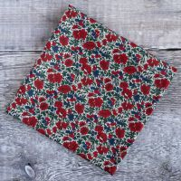Mens pocket square - Liberty tana lawn Rosalind red and blue pocket square