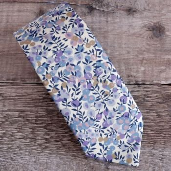 Liberty print tie - Wiltshire Berry lilac