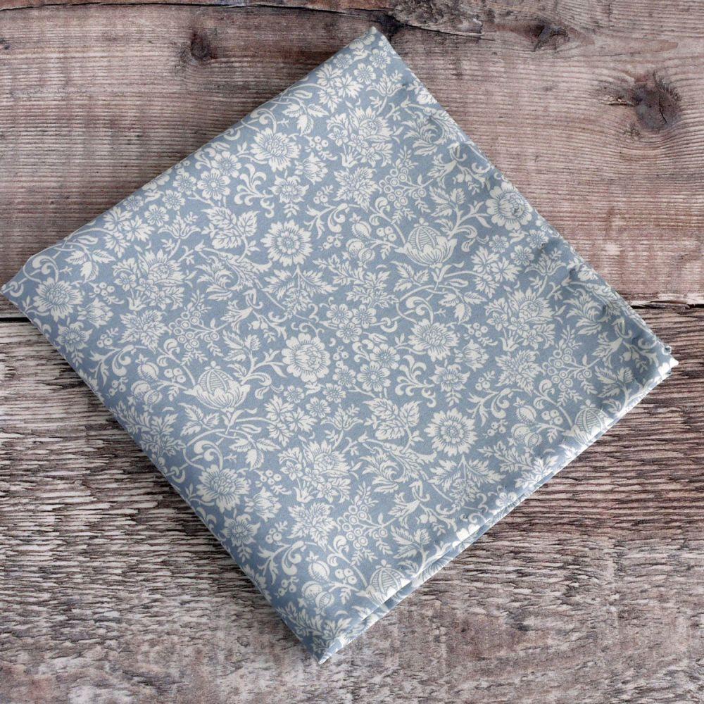 Blue Floral pocket square - Liberty tana lawn Kelmscott Garden