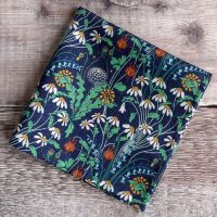 Blue floral pocket square - Liberty tana lawn Alpine Pasture