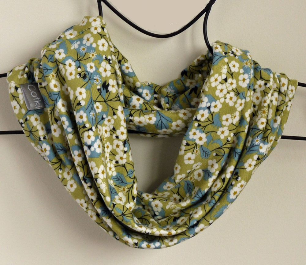 Liberty jersey circle scarf - Mitsi green