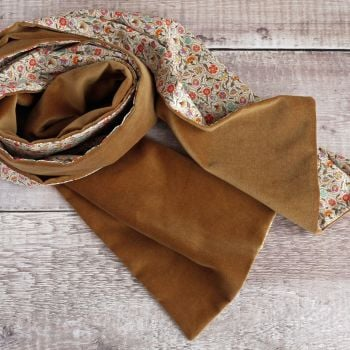 Liberty Le Temps Viendra and tan velveteen scarf