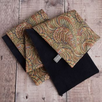 Liberty Oscar and navy velveteen scarf