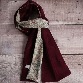 Claret velveteen and Liberty Jess & Jean scarf