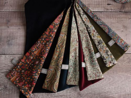 Velvet and Liberty lawn scarves