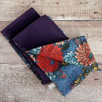 Purple velveteen and Liberty Meandering Chrysanthemums scarf