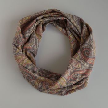 Liberty jersey circle scarf - Felix and Isabelle paisley