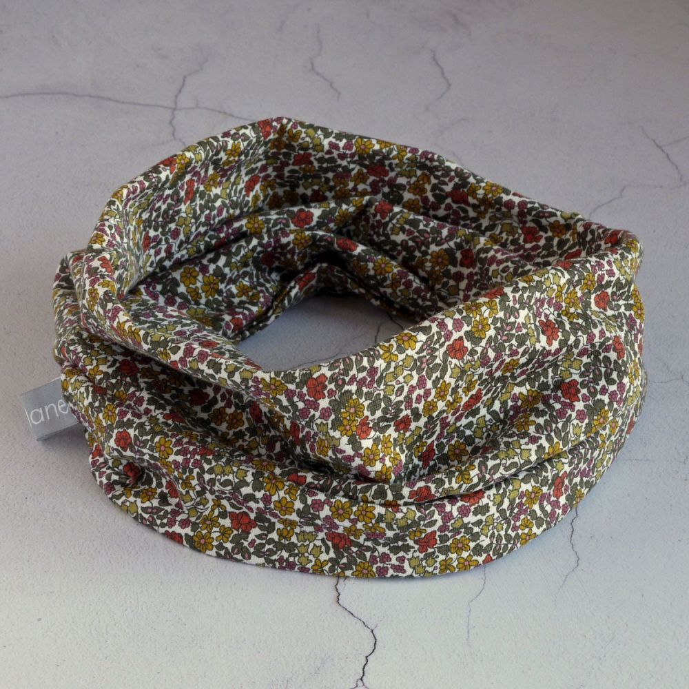 Liberty jersey circle scarf - Emilia's Flowers