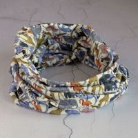 Liberty jersey circle scarf - Queue for the Zoo
