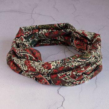 Liberty jersey circle scarf - Bourton paisley