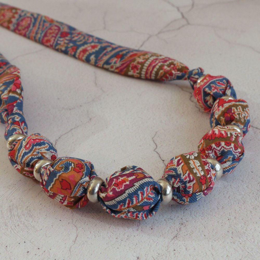 Felix paisley Liberty print necklace